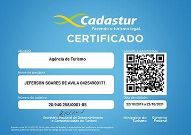 Certificado de Agencia de turismo - Cerr