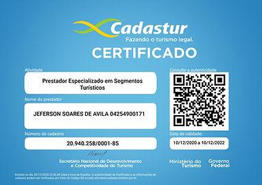 Certificado de Prestador Especializado e