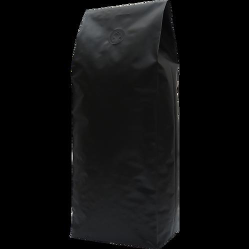 25 250g Matt Black Side Gusset Bags with Valve