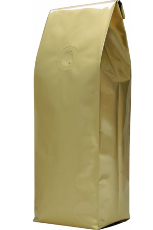 25 250g Gold Side Gusset Bags with Valve