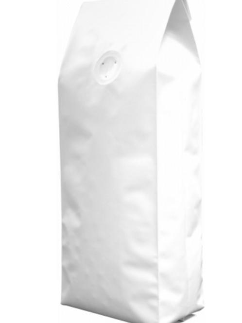 25 1kg Matt White Side Gusset Bags with Valve