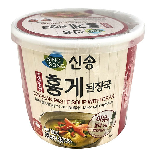 Instant Soybean Paste Soup with Crab