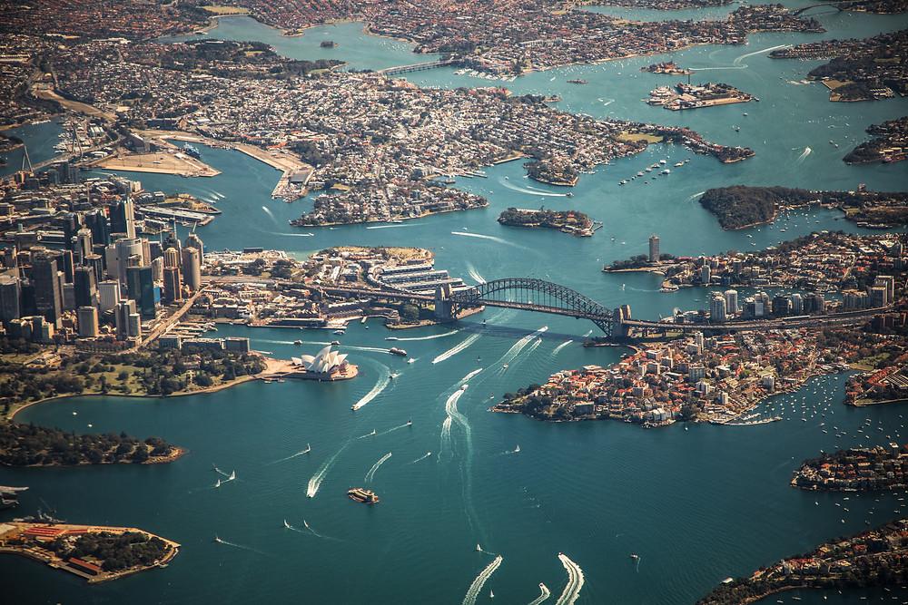 Birds Eye View of Sydney. Photo by Jamie Davies