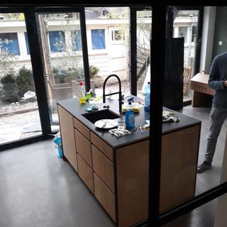 keuken eiland gunnar in aanbouw