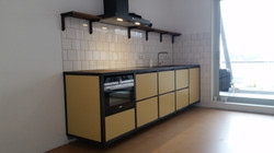 keuken bas net na installatie