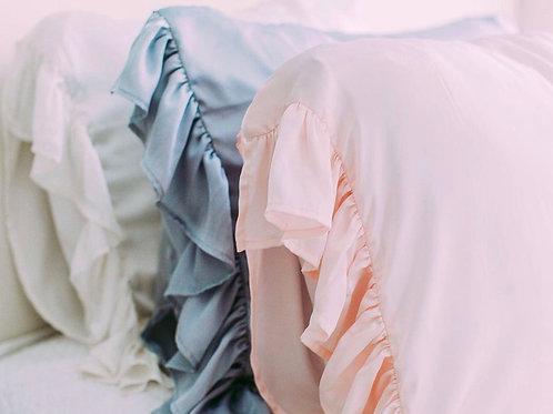 Silk Ruffle Pillow Case