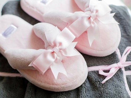 Pretty in Pink Spa Slippers