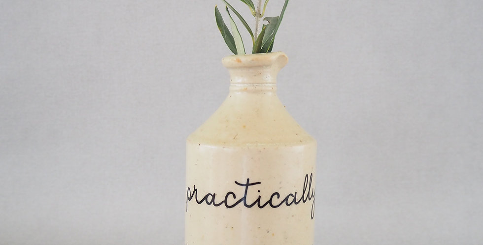 Hand painted vintage earthenware
