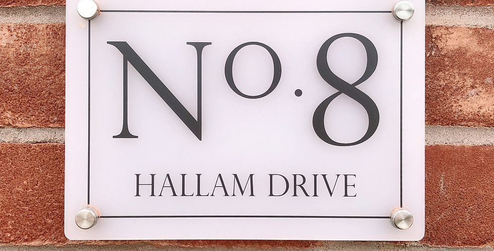 Printed Acrylic House Number