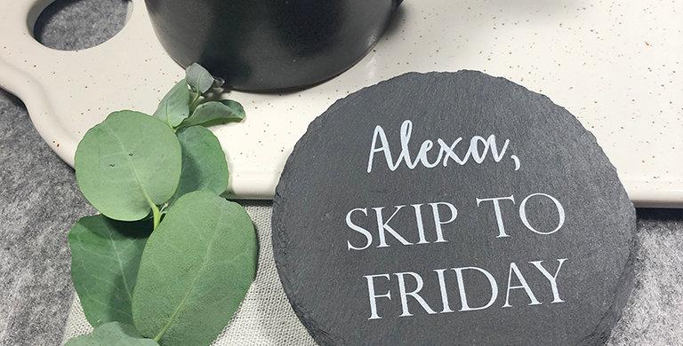 Alexa Slate Coaster