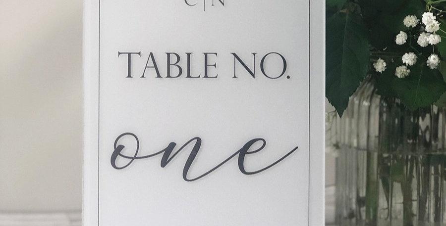 Melissa Table Number