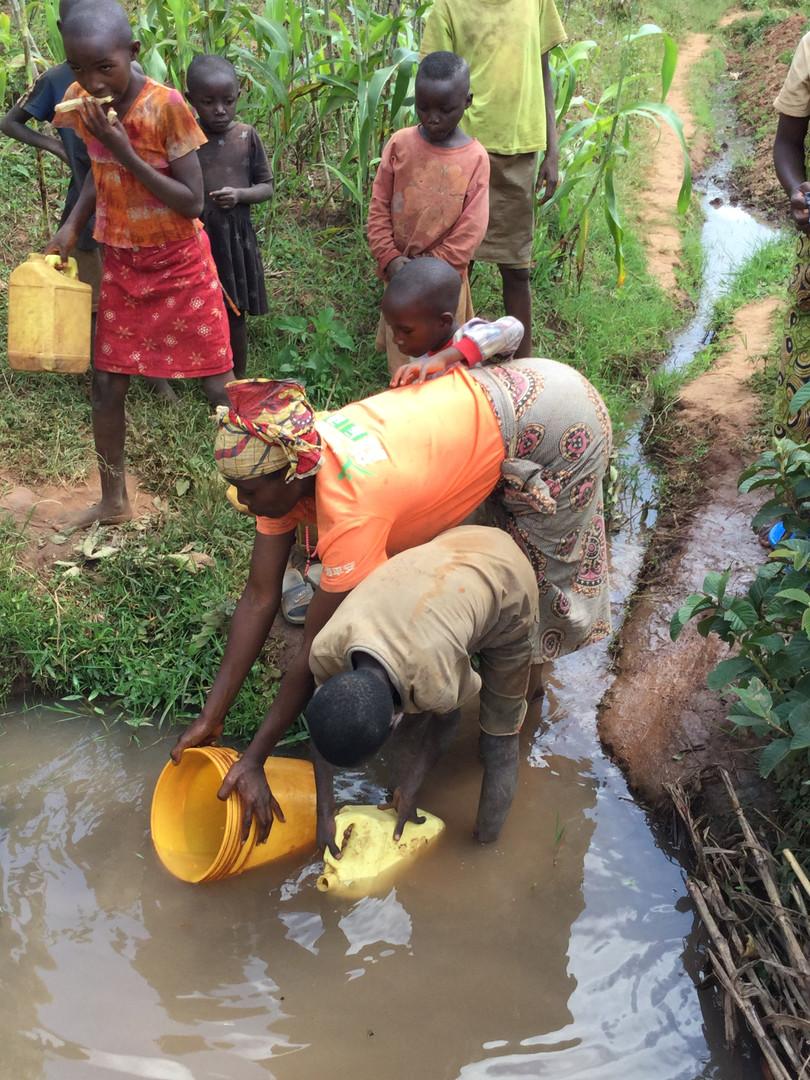 lack of clean water in Kibimba