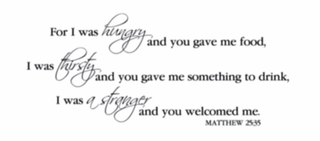 Matthew 25:35