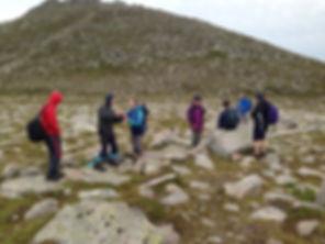 Walking Group going to Lochnagar
