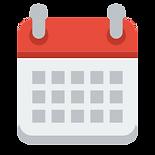 Clipart image of a calendar