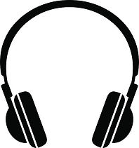 Clipart image of headphones for listening to church services.