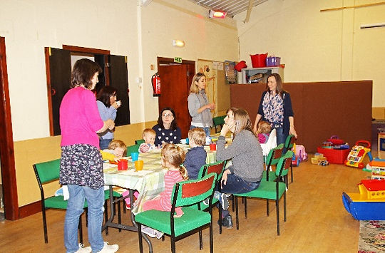 Mums and toddlers at Jolly Tots