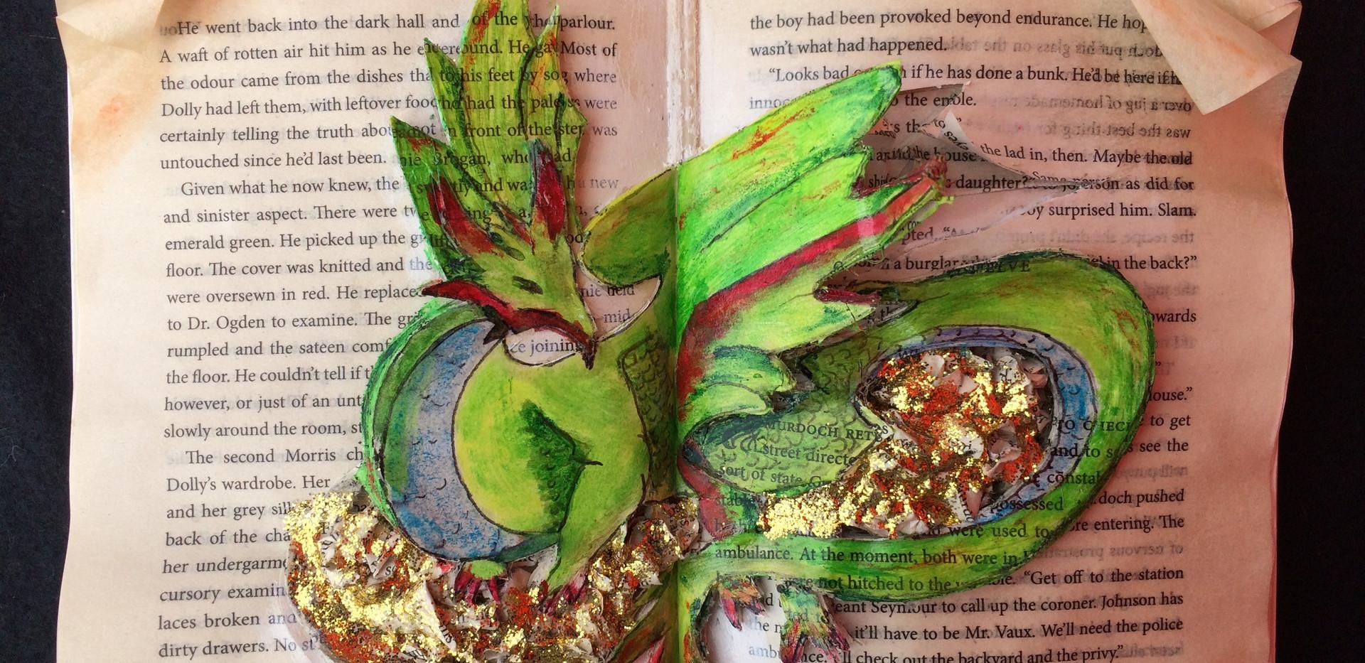 Dragon - Book art (sold)