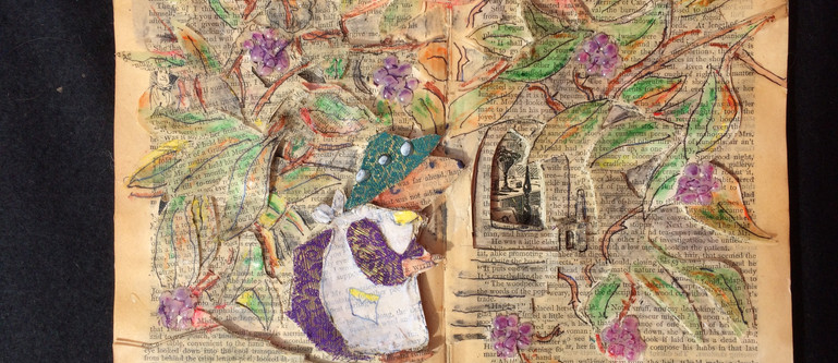 Mrs Tiggywinkle - Book art