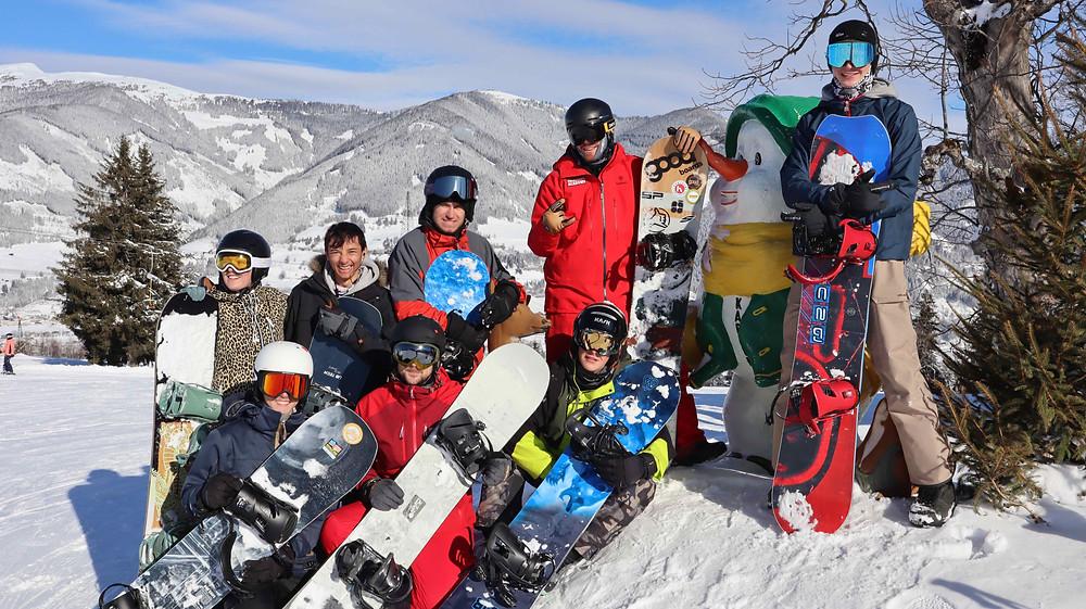 Snowboardlehrer Ausbildung Gruppenfoto