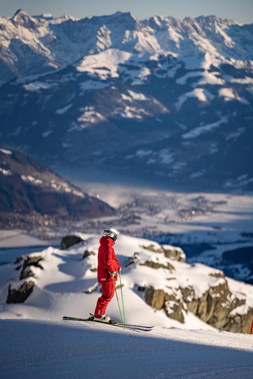 Ski Instructor enjoys mountains