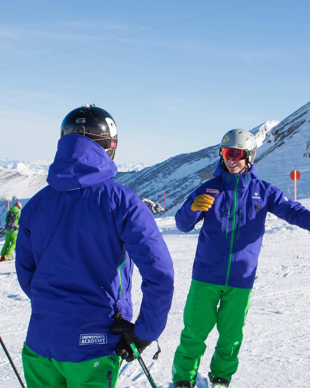 Ausbilder Snowsports Academy bei Skilehrer Anwärter Ausbildung