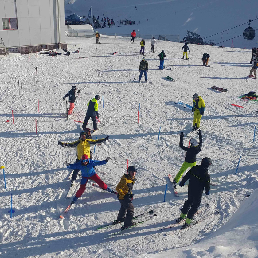 Skilehrer Anwärter Kindertag