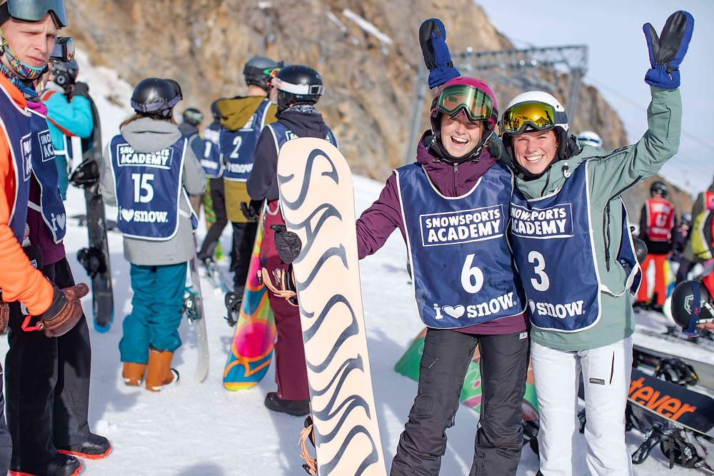 Snowboardlehrer Anwärter Ausbildung Spaß