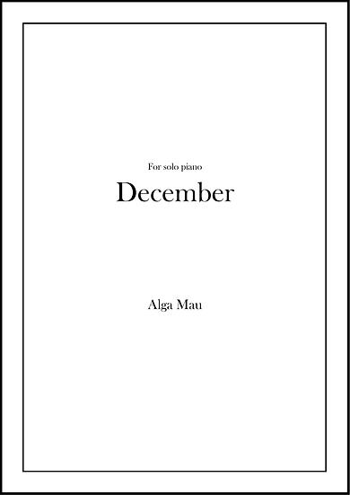 December - solo piano score