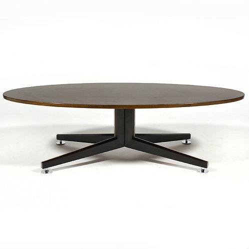 Edward Wormley Elliptical Rosewood Coffee Table by