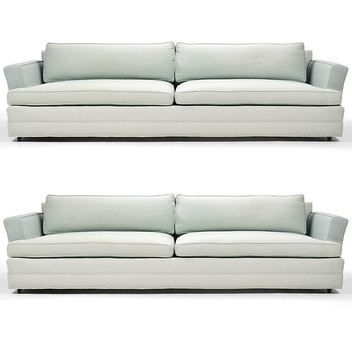Pair of Edward Wormley Curved Arm Sofas by Dunbar