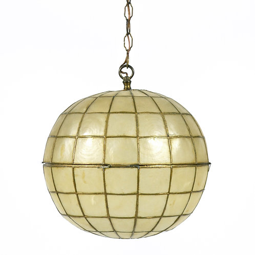 Capiz Shell Ball-shaped Pendant Lamp