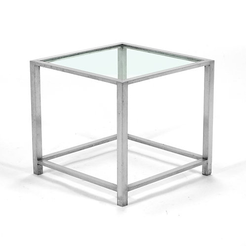 Richard Finier Stainless Steel Side Table