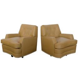 Baker Swivel Club Chairs
