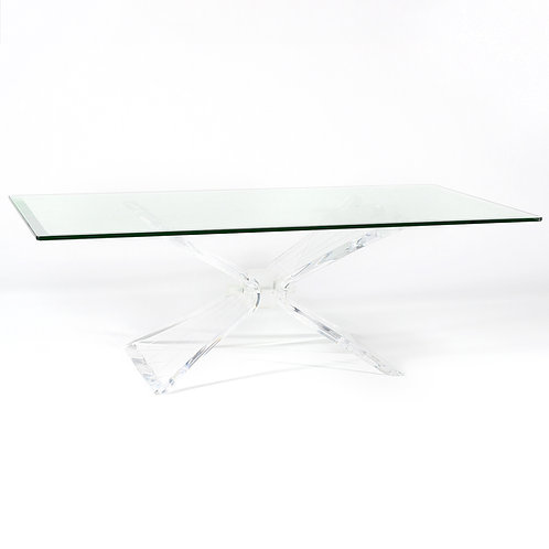 Lion In Frost Lucite Coffee Table