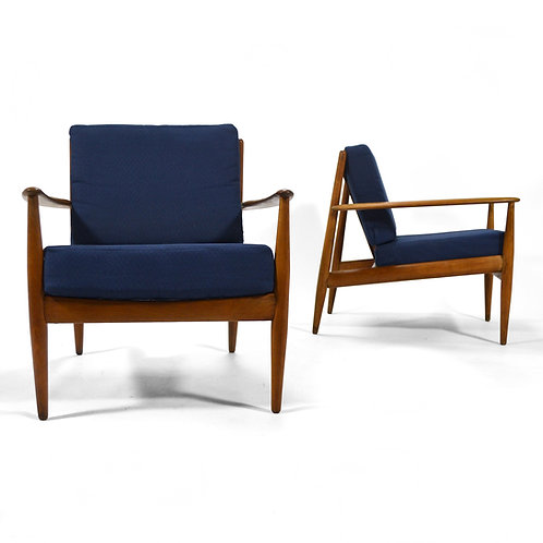 Pair of Grete Jalk Easy Chairs