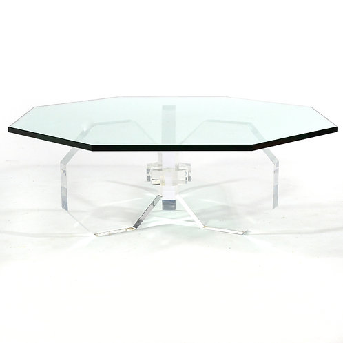 Lucite Hexagon Table
