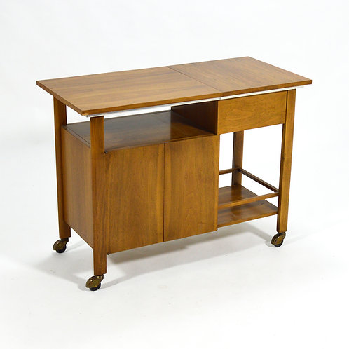 John Widdicomb Bar Cart / Server with Expanding Top