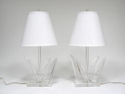 VanTeal Lucite Table Lamps