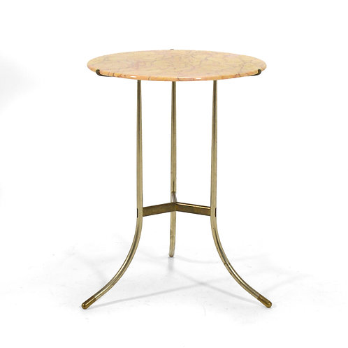 Cedric Hartman Bronze & Marble Side Table