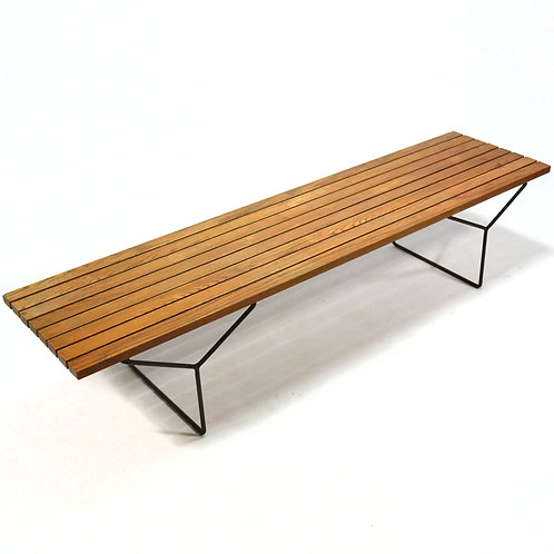 Early Harry Bertoia Slat Bench by Knoll