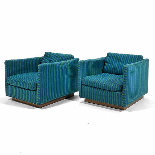Milo Baughman Cube Chairs by James Inc.