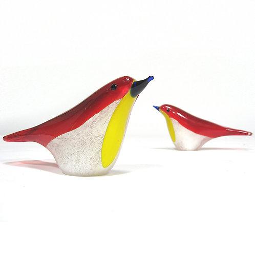 Pair Of Murano Glass Birds