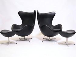 Arne Jacobsen Egg Chairs & Ottomans