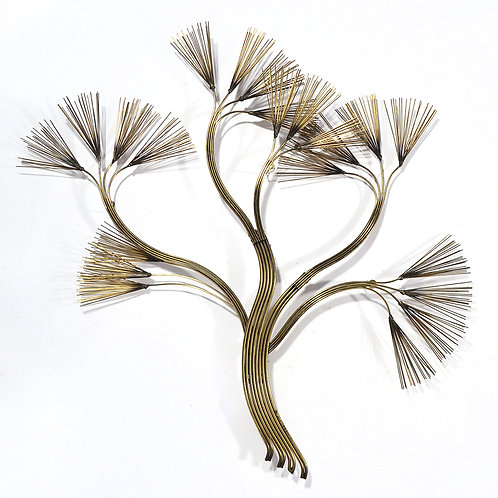 C. Jere Abstract Floral Wall Sculpture