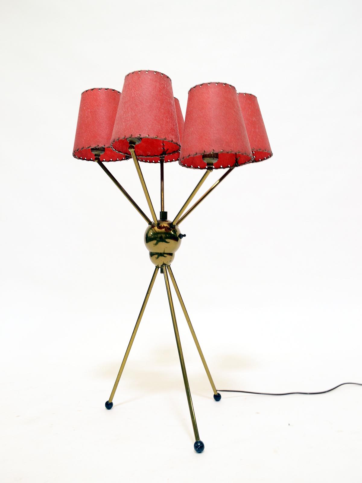 Brass 1950s Sputnik Table Lamp