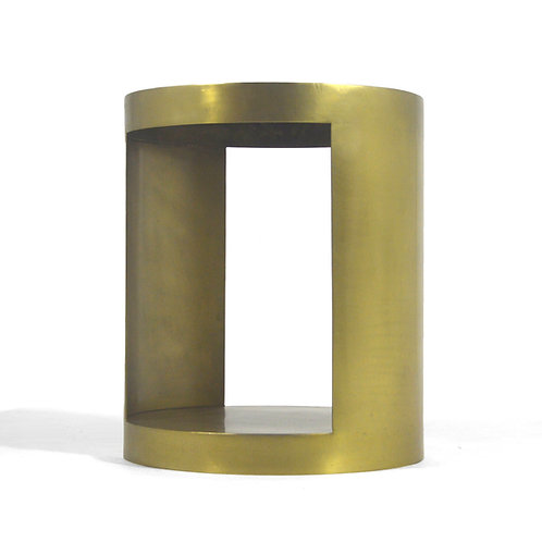 Custom Made Cylindrical Side Table