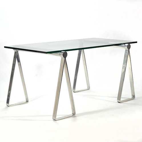 "Aluminum ""Sawhorse"" Table/ Desk"