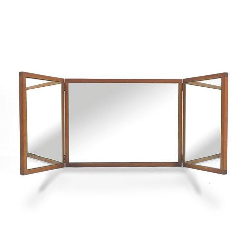 Aksel Kjersgaard Teak Tri-fold Vanity Mirror
