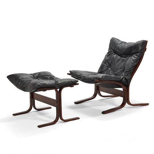 Ingmar Relling Siesta Chair & Ottoman by Westnofa